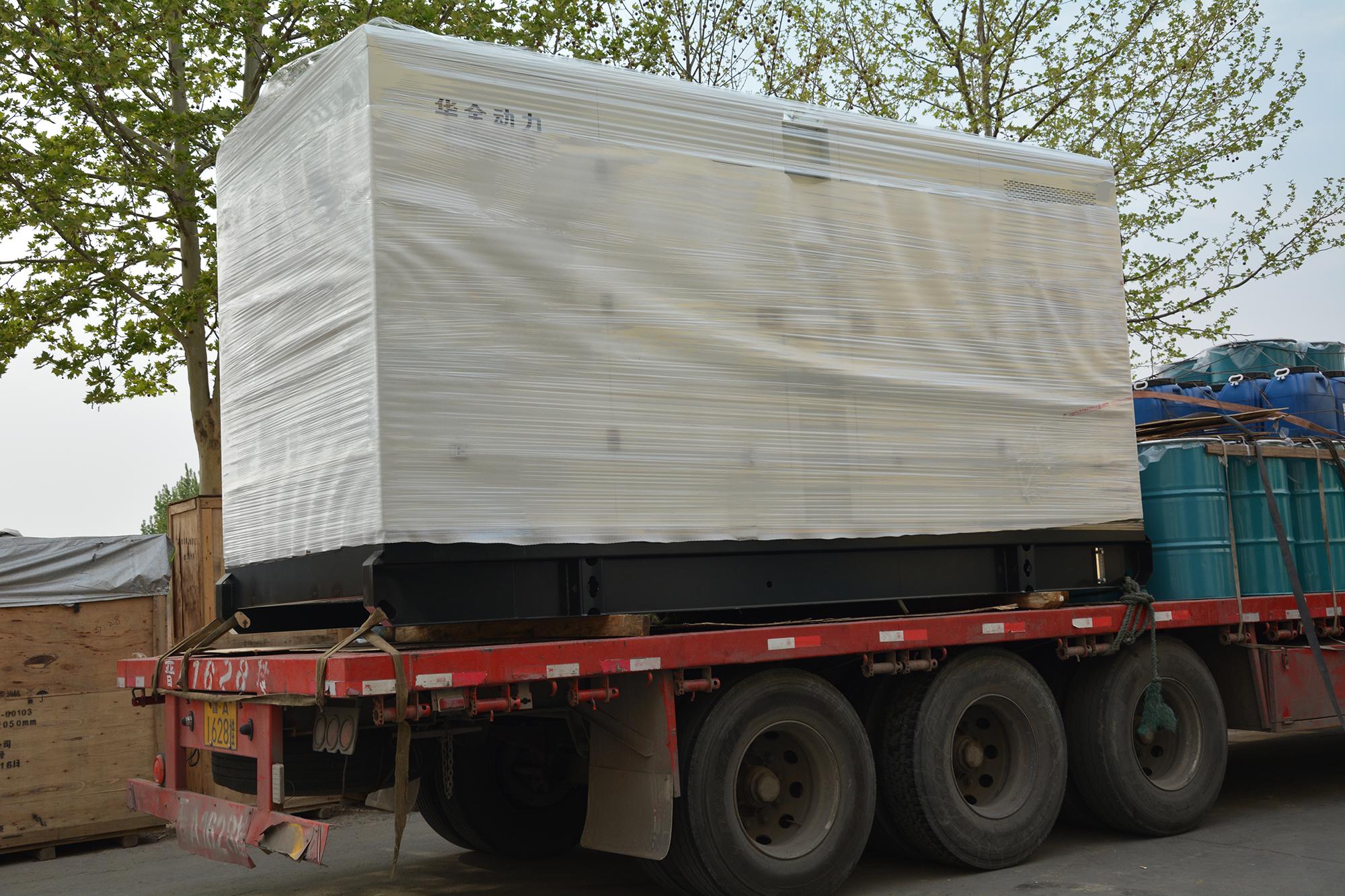 河北董先生3月27日从AG捕鱼王app动力订制的200kw静音箱发电机组于当天发出